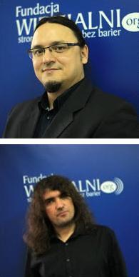 Marcin Luboń i Przemysław Marcinkowski - wiceprezesowie Fundacji Widzialni