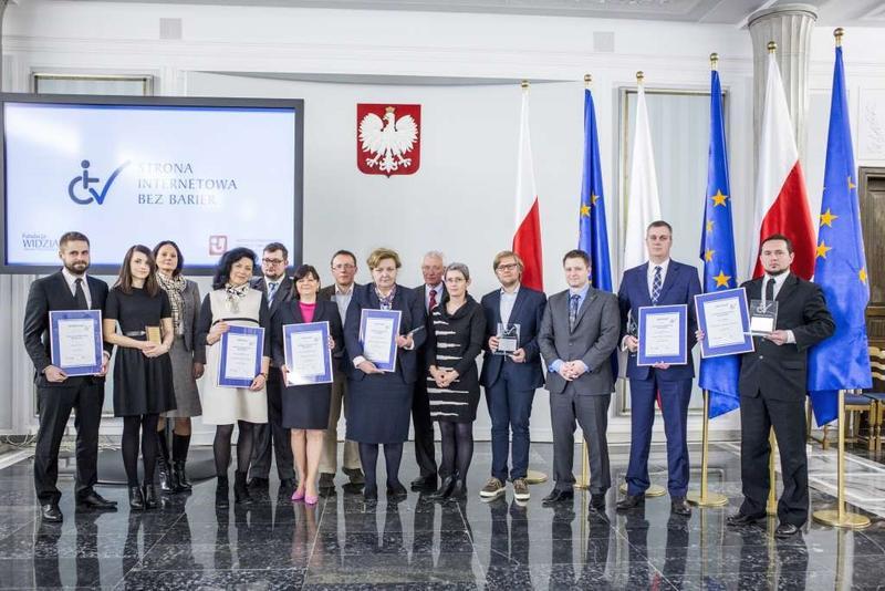 Laureaci Konkursu Strona Internetowa bez Barier 2016 w Sejmie RP podczas konferencji Cyfrowo Wykluczeni
