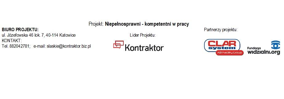 oznakowanie partnerów projektu