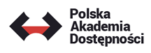 Logo Polskiej Akademii Dostępności