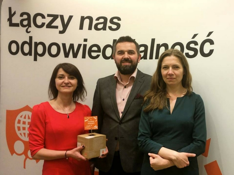 Przedstawiciele Fundacji podczas gali wręczenia nagród Przyjaciel CSR 2015