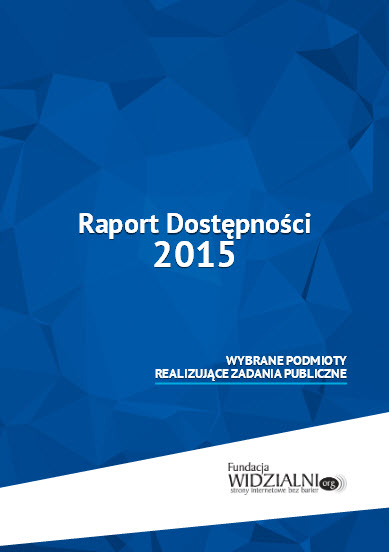 Okładka Raportu Dostepności 2015