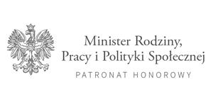 Logo Ministra Rodziny, Pracy i Polityki Społecznej